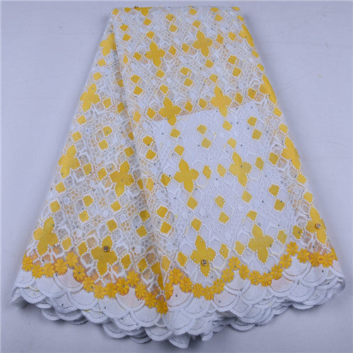New African Lace Fabric 2019 High Quality French Mesh Lace Fabric Stones Nigerian Milk Silk Lace Fabrics For Wedding Dress 1656