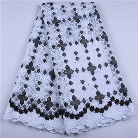 Image of New African Lace Fabric 2019 High Quality French Mesh Lace Fabric Stones Nigerian Milk Silk Lace Fabrics For Wedding Dress 1656