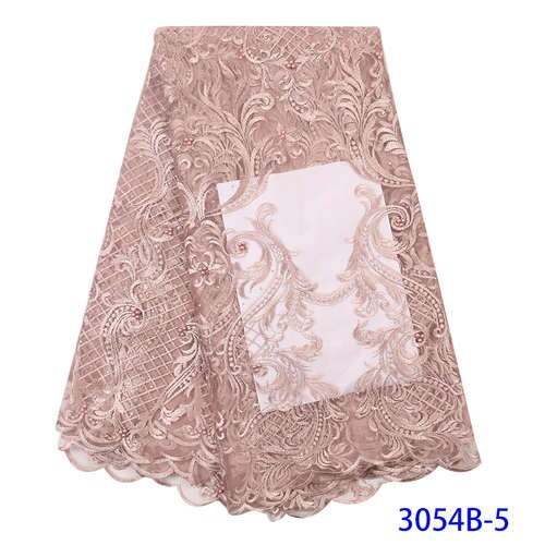 New Arrival Tulle Net Lace Fabric High Quality African French Net Lace Fabric Wedding Nigerian African Women Dress 3054b