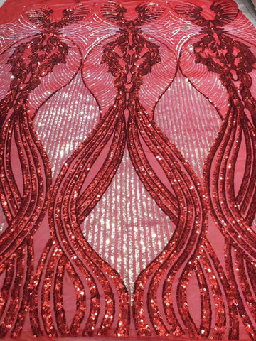 Image of New Sequins Lace Fabric 2019 High Quality Latest Sequins African Lace Fabric Wedding French Tulle Lace Fabric   YAYUEOC122