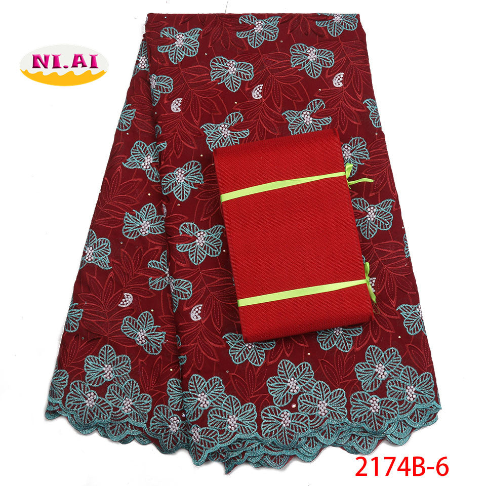New design aso oke cotton swiss voile lace high quality 2018 hot sale swiss voile lace in switzerland for dress NA2174B-1
