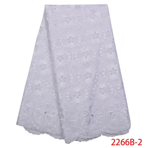 New design hot sale Nigerian lace fabric,Fashion African Kano cotton swiss voile lace in switzerland high quality NA2266B-2