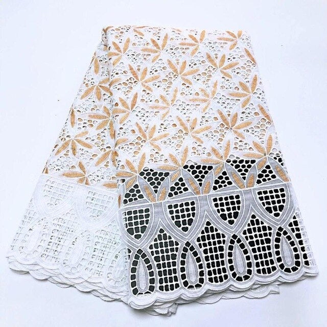 New swiss voile lace african lace fabric 2020 dubai fabric dry lace fabric for ladies dress making cotton swiss voile lace