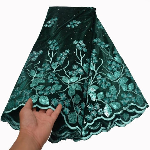 Image of Newest African Tulle Lace Fabrics With Sequins Embroidery Net Lace African French Lace High Quality Net Lace Wedding   FLP-1057