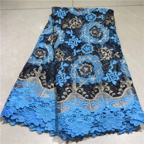 Newest African Tulle Lace Fabrics With Stones Embroidery Net Lace African French Lace High Quality tulle lace    NLYJUL204