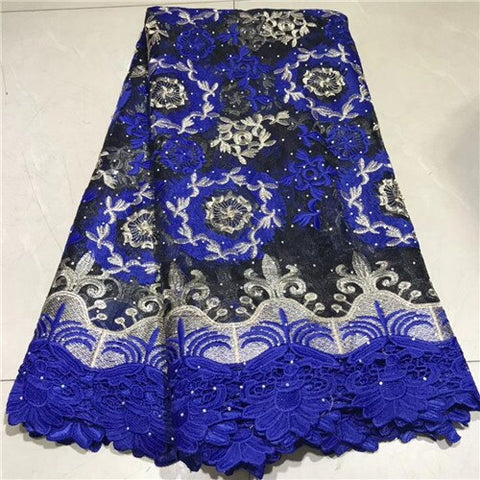 Image of Newest African Tulle Lace Fabrics With Stones Embroidery Net Lace African French Lace High Quality tulle lace    NLYJUL204