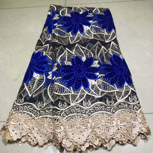 Newest design French Velvet lace fabrics African velvet Lace fabric with stone cotton African lace fabric 5 yards