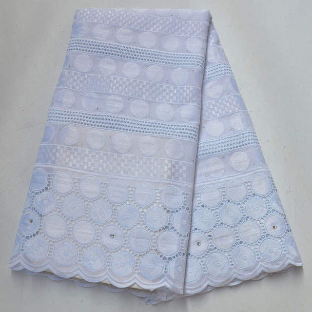 High quality Swiss voile lace in Switzerland soft cotton stones African dry lace fabric 2019 Nigerian french cord lace fabrics