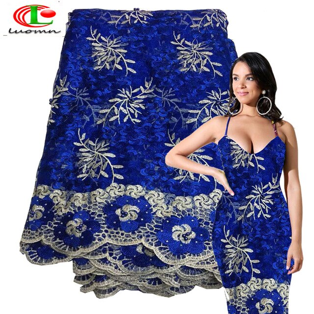 Nigerian French Lace Fabrics 2018 African Tulle Lace Fabric High Quality African Lace Wedding Fabric For Dress