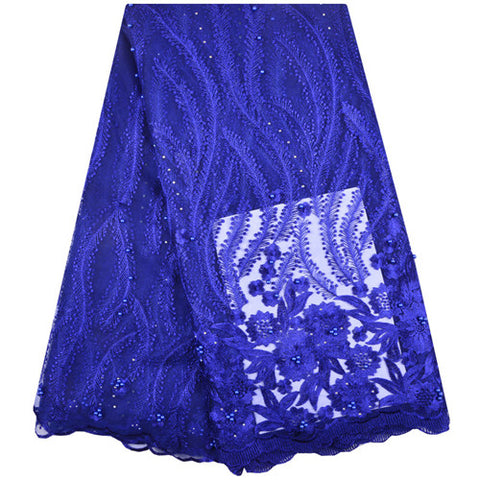 Image of Nigerian French Lace Fabrics 2018 African Tulle Lace Fabric High Quality African Lace Wedding Fabric For Dress  A1300