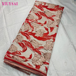 Nigerian Lace Fabric 2020 High Quality Brocade Jacquard Lace for Bridal Materials Nigerian Brocade Fabric For Wedding P873