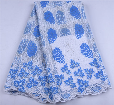 Image of Nigerian Lace Fabric African Lace Fabric 2019 French Lace Fabric For Women Wedding Party Dress A1644