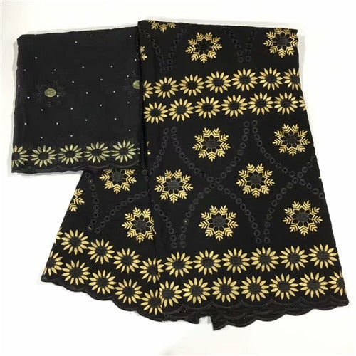 e672d8cf0 Nigerian Laces Fabric african lace fabrics high quality black color cotton  lace swiss voile lace fabric for women dress lc12-49