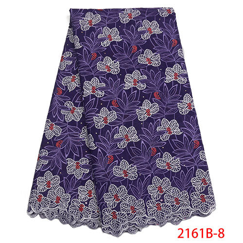 Nigerian Swiss Voile Cotton Lace Fabric 2018 New African Swiss Voile Lace In Switzerland High Quality Swiss Dry Lace NA2161B-1