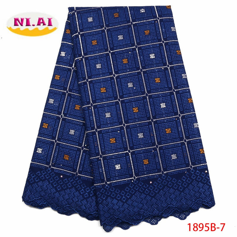 Nigerian Swiss Voile Cotton Lace Fabric 2018 Simple African Swiss Voile Lace In Switzerland High Quality Dry Lace XY1895B-7