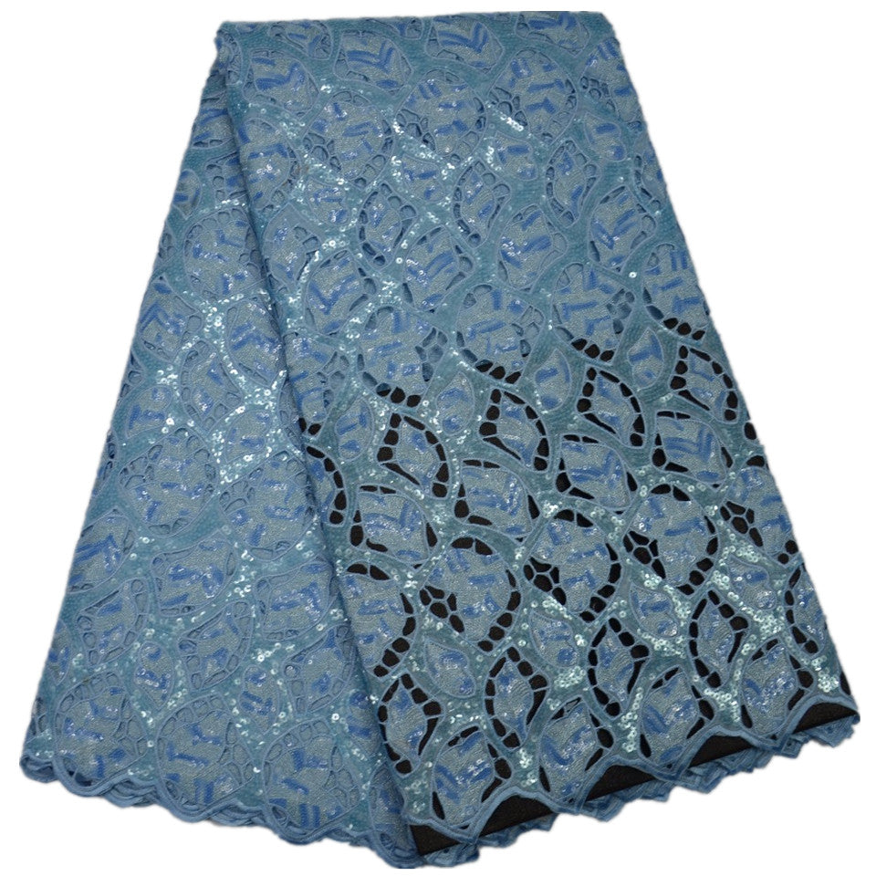 Organza Lace Fabrics 2017 New Arrival African Sequins Fabric For Party Dress French Lace Fabric Nigerian Wedding MJKY798-2