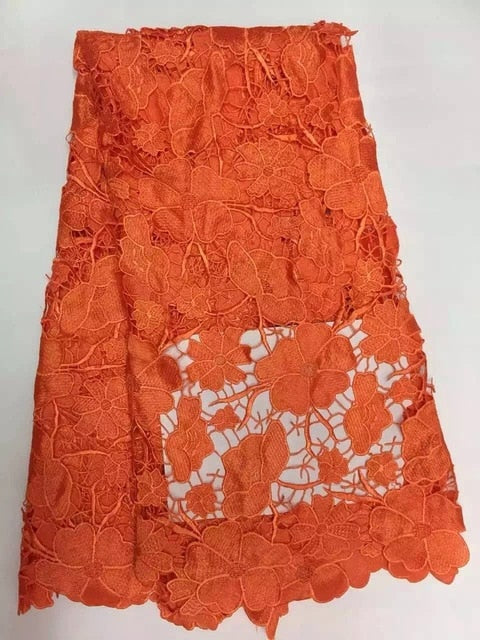 Promotion! High quality green red white nigerian french lace african lace fabric for party dress.5yards/lot Free shipping KW002C