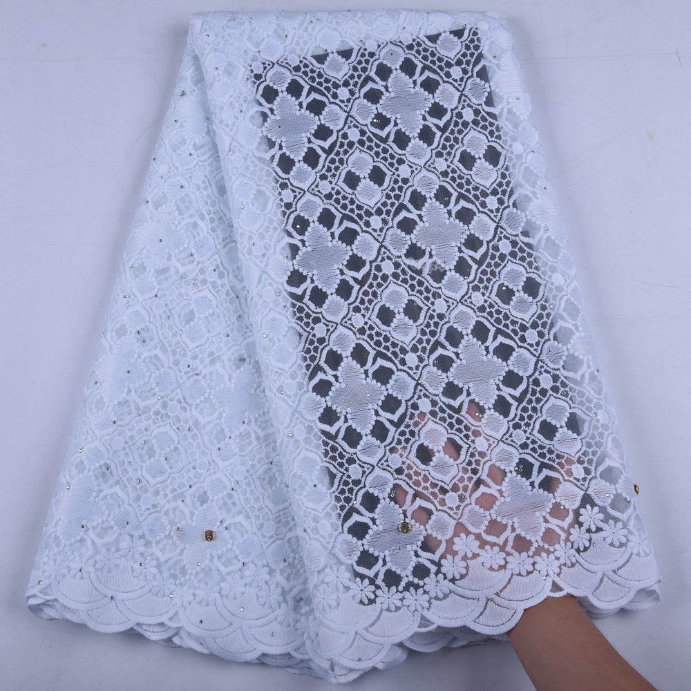 Pure White African Milk Silk Lace Fabric Embroidered Nigerian French Lace Fabric High Quality Lace 2019 Tulle Lace Fabric 1656