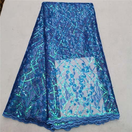 Sequins African Net Lace Fabric 2019 High Quality New Nigerian Embroidery Guipure Mesh Wedding Fabrics Fashion Dress Laces