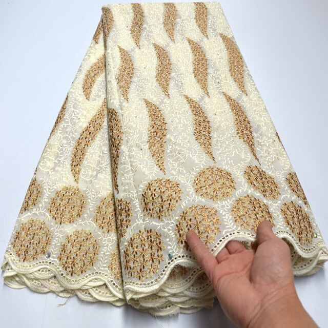 Special Offers African Swiss voile Lace fabric with stones high quality 2020 Nigerian Ghana garment sewing clothes