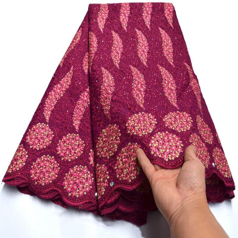 Image of Special Offers African Swiss voile Lace fabric with stones high quality 2020 Nigerian Ghana garment sewing clothes