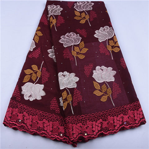 Image of Swiss Voile Cotton Lace Fabric Latest 2019 High Quality Lace Swiss Voile Lace In Switzerland For Party Dress Lace 5 Yards 1655