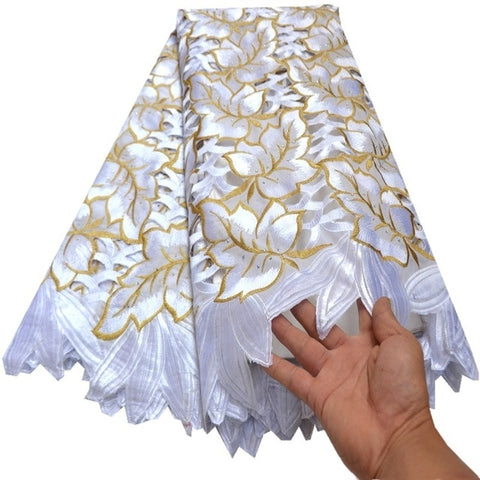 Image of Swiss Voile Lace In Switzerland High Quality 2019 White African Dry Lace Fabric Swiss Voile For Men Swiss Voile Lace RG010