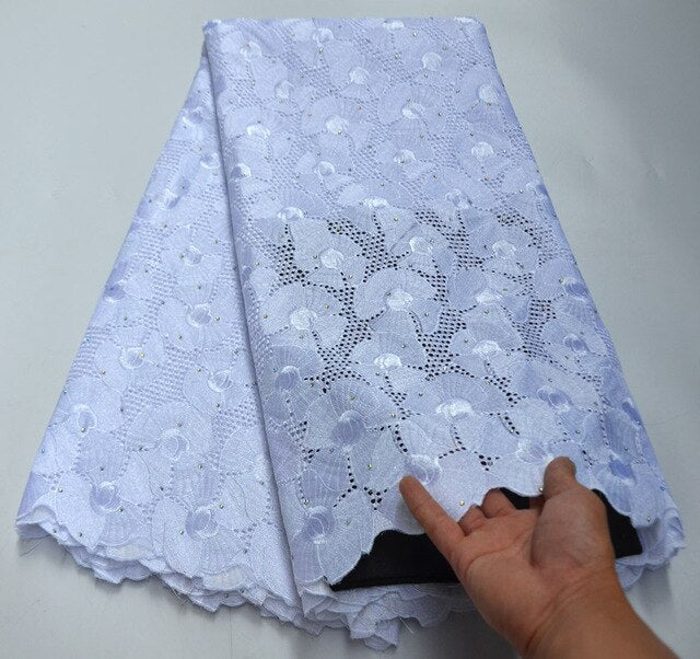 Swiss Voile Lace In Switzerland High Quality 2019 White African Dry Lace Fabric Swiss Voile For Men Swiss Voile Lace RG010