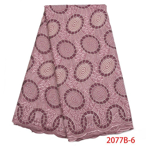 Swiss Voile Lace In Switzerland High Quality African Cotton Lace Fabric Fashion Dry Lace Fabric For Party Dress NA2077B-2