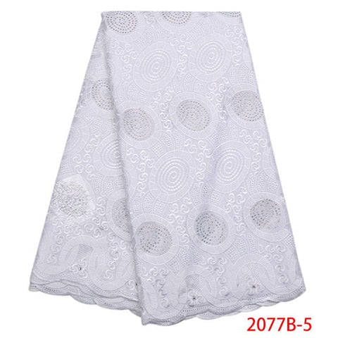 Image of Swiss Voile Lace In Switzerland High Quality African Cotton Lace Fabric Fashion Dry Lace Fabric For Party Dress NA2077B-2