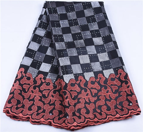 Image of Swiss Voile Lace In Switzerland High Quality Embroidery African Lace Fabric For Nigeria Man Lace Fabric For Wedding PartyA1652