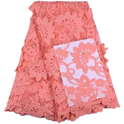 Image of Top Sale French Milk Silk Lace Fabric Latest African Milk Silk Lace Fabric Embroidery Nigerian Lace Fabric For Every Dress F1634