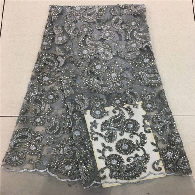 VILLIEA Wine Color African Lace Fabric 2018 High Quality French Velvet Lace Fabric With Stones Lace Fabric For Wedding Party