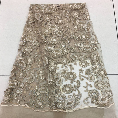 Image of VILLIEA Wine Color African Lace Fabric 2018 High Quality French Velvet Lace Fabric With Stones Lace Fabric For Wedding Party