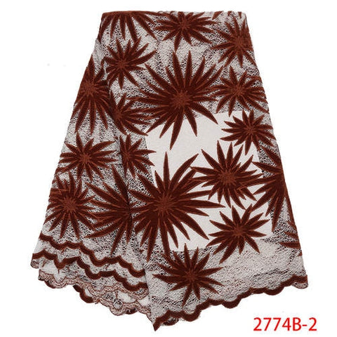 Velvet Lace Fabric Latest African Lace 2019 High Quality French Wedding Lace Fabric African Lace Material for 5yards 2774b