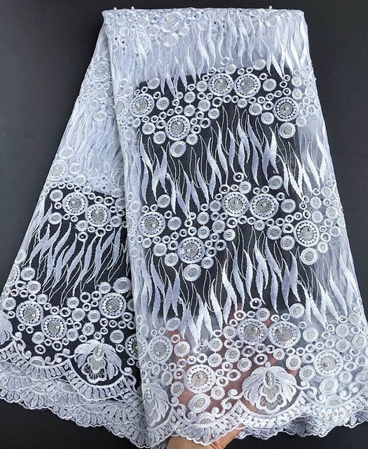 Very neat embroidery fresh healthy African wedding french lace high quality Nigerian tulle lace fabric 2018 latest design