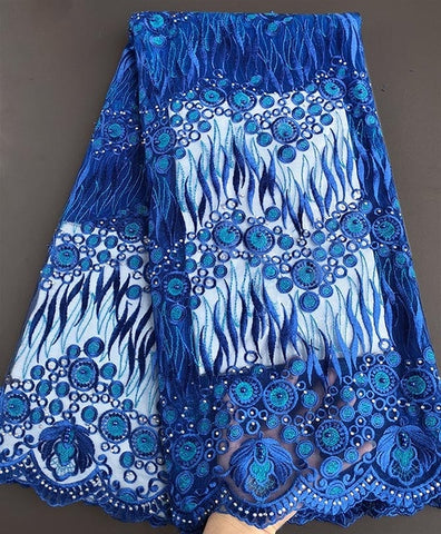 Image of Very neat embroidery fresh healthy African wedding french lace high quality Nigerian tulle lace fabric 2018 latest design