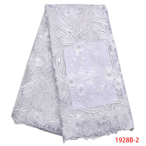 White African Lace Fabric 2018 High Quality Lace Cheap Lace Fabrics With Free Shipping Lace Trimmings For Sewing NA1928B-1