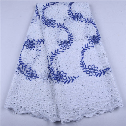 White African Tulle Lace Fabrics High Quality Lace Nigerian Cotton Lace Fabric With Stones Swiss Voile Lace In Switzerland 1657