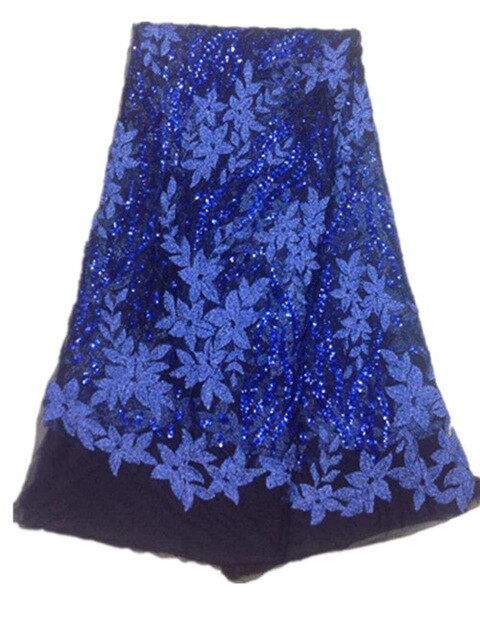 Wholesale screen bridal African lace / high quality guipir African African crystal woven tie for Nigerian  wedding