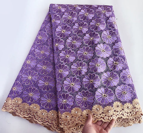 Image of Wine Gold veritable french lace fabric African tulle lace floral embroidery mesh Swiss fabric high quality 5 yards good choice