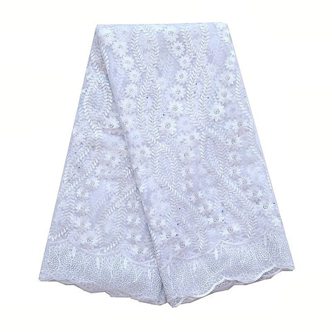 Image of WorthSJLH Latest Wedding White Lace Fabric Nigerian Lace Fabric 2018 High Quality Lace Royal Blue Mesh French Lace Net Fabric