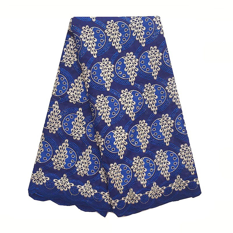 WorthSJLH White Swiss Voile Lace Royal Blue Nigerian Men Lace Fabric Dubai Latest African Swiss Fabric Lace 2018 With Stones