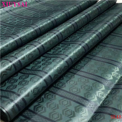 Image of XIUYSAI african lace fabrics Cotton bazin riche getzner fabric for cloth 2020 New arrival nigerian bazin broderie fabric K48