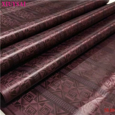 XIUYSAI african lace fabrics Cotton bazin riche getzner fabric for cloth 2020 New arrival nigerian bazin broderie fabric K48