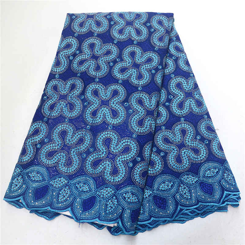 african lace fabric 2019 high quality swiss voile lace in switzerland nigerian cotton lace fabrics with stones PSA770-3