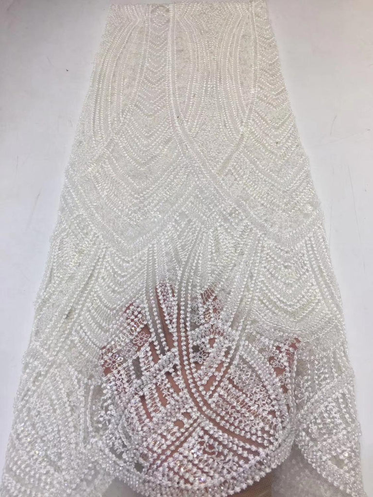 beautiful organza lace fabric high quality african net tulle lace fabric fashion style nice look beads tube design     ZXNO225