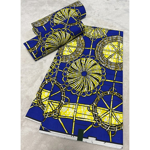 dashiki Wax Prints Fabric ankara african wax print fabric Wax High Quality 6 yards African Fabric for Party Dress