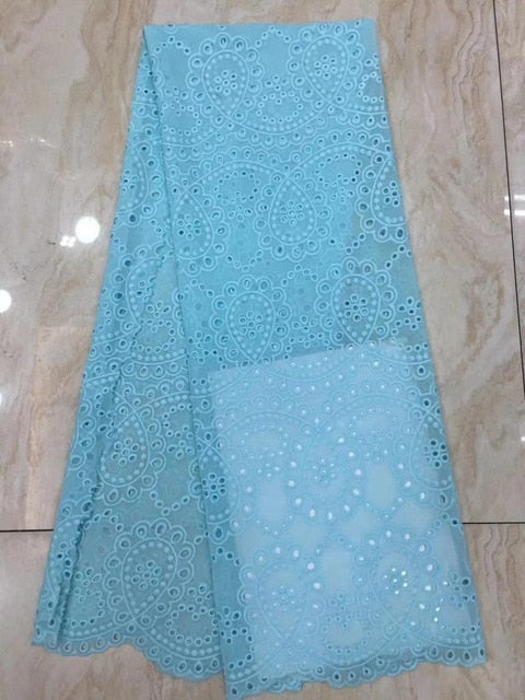 elegant style 5yards hollow swiss mesh dress lace fabric eyelet polyester/cotton in hole design for women party dress DPAP252