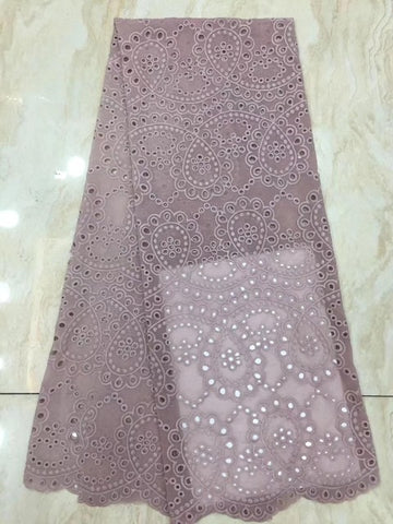 Image of elegant style 5yards hollow swiss mesh dress lace fabric eyelet polyester/cotton in hole design for women party dress DPAP252